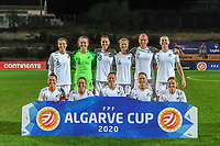 20200307  Parchal , Portugal : Team New Zealand ( New Zealand midfielder Ria Percival (2) , New Zealand defender Catherine Joan ' CJ ' Bott (4) , New Zealand defender Meikayla Moore (5) , New Zealand defender Rebekah Stott (6) , New Zealand defender Ali Riley (7) , New Zealand midfielder Annalie Longo (10) , New Zealand forward Rosie White (13) , New Zealand midfielder Katie Bowen (14) , New Zealand forward Hannah Wilkinson (17) , New Zealand defender Stephanie Skilton (18) , New Zealand goalkeeper Anna Leat (23) ) pictured before the female football game between the national teams of New Zealand called the Football Ferns and Italy , called the Azzurre on the second matchday of the Algarve Cup 2020 , a prestigious friendly womensoccer tournament in Portugal , on saturday 7 th March 2020 in Parchal , Portugal . PHOTO SPORTPIX.BE | STIJN AUDOOREN