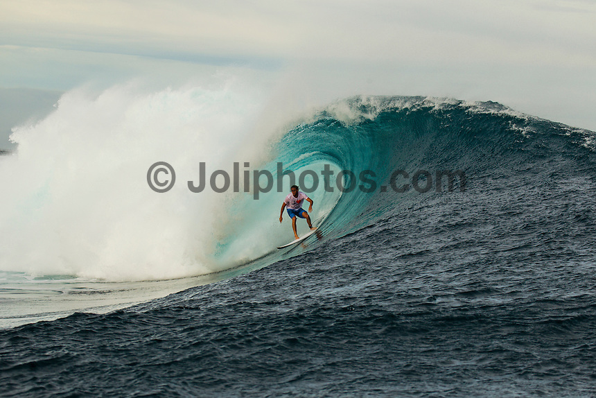 CLOUDBREAK, Tavarua/Fiji (Monday, June 4, 2012) Matt Wilkinson (AUS). - Free surfing at Cloudbreak. Warm up sessions during the Volcom Fiji Pro.  Photo: joliphotos.com