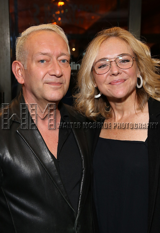 """John LaChiusa and Rachel Bay Jones Attends the Broadway Opening Night of """"All My Sons"""" at The American Airlines Theatre on April 22, 2019  in New York City."""