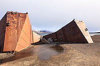 Remnants of a bygone era abound at Whalers Bay, the site of an abandoned Norwegian whaling base on Decpetion Island, located in the South Shetland Islands near the Antarctic Peninsula.