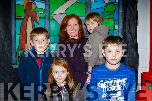Patricia, Paudie, Diarmuid, Andrea&Fionn Fitzgerald from Cloghane having fun at the Panto on Saturday night.