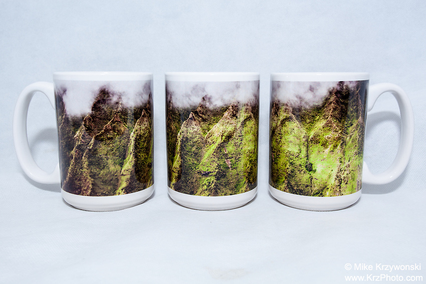 15 oz. Mug  - Ko'olau Mountains - $25 + $6 shipping.<br />