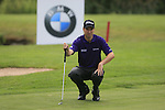 Ross Fisher (ENG) lines up his putt on the par3 17th green during Day 1 of the BMW International Open at Golf Club Munchen Eichenried, Germany, 23rd June 2011 (Photo Eoin Clarke/www.golffile.ie)