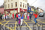 Dancing at the Cross roads in Cahersiveen on Saturday 8th December, part of the atmosphere from the 10% shopping day were members from the CCE Barr na Sraide group.