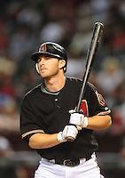 Sept. 26, 2009; Phoenix, AZ, USA; Arizona Diamondbacks shortstop Stephen Drew against the San Diego Padres at Chase Field. Mandatory Credit: Mark J. Rebilas-