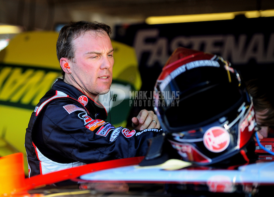 Mar. 2, 2012; Avondale, AZ, USA; NASCAR Sprint Cup Series driver Kevin Harvick during practice for the Subway Fresh Fit 500 at Phoenix International Raceway. Mandatory Credit: Mark J. Rebilas-
