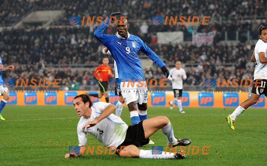 "Mario BALOTELLI (Italia).Roma 15/11/2011 Stadio ""Olimpico"".Gara amichevole 2011/2012.Football Calcio Italia Vs Uruguay.Foto Insidefoto Alessandro Sabattini."