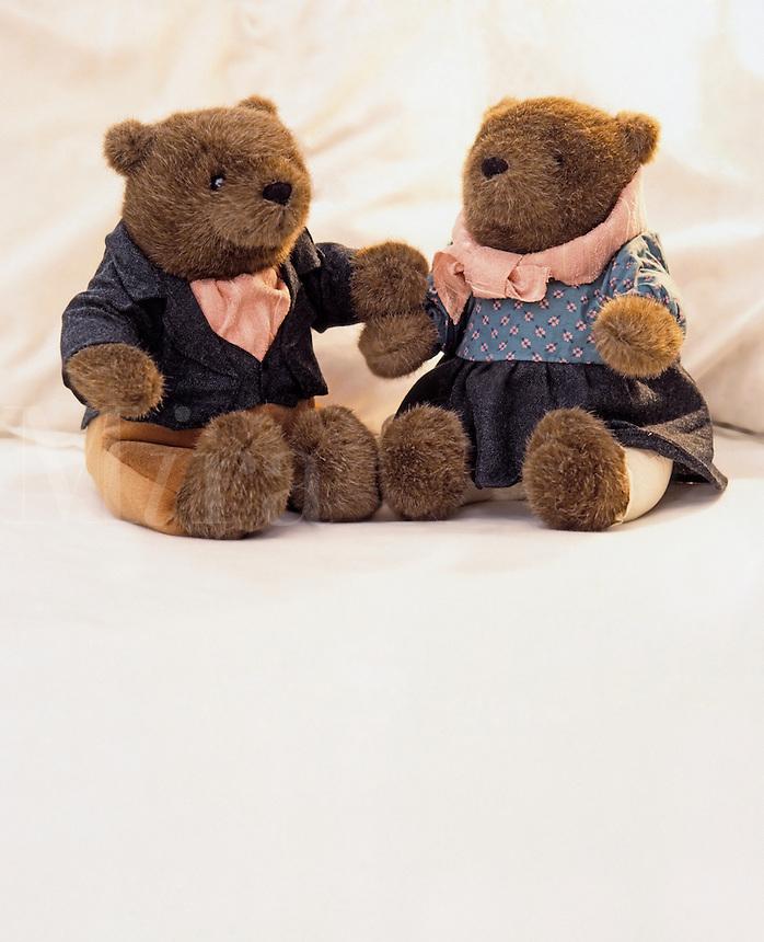 Two stuffed bears.