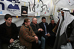 A Bedouin sheikh from the the South Israeli city of Rahat visits the protest tent for captive soldier Gilad Schalit outside the Israeli Prime Ministers house on March 15, 2009. Prime Minister Olmert said they will decide on a deal to free schalit by Monday. Photo: Maya Levin / Jini