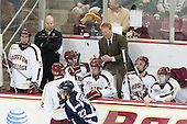 Ian McCoshen (BC - 3), John Hegarty (BC - Dir-Hockey Ops), Scott Savage (BC - 28), Michael Matheson (BC - 5), Greg Brown (BC - Associate Head Coach), Steven Santini (BC - 6), Teddy Doherty (BC - 4) - The Boston College Eagles defeated the visiting St. Francis Xavier University X-Men 8-2 in an exhibition game on Sunday, October 6, 2013, at Kelley Rink in Conte Forum in Chestnut Hill, Massachusetts.
