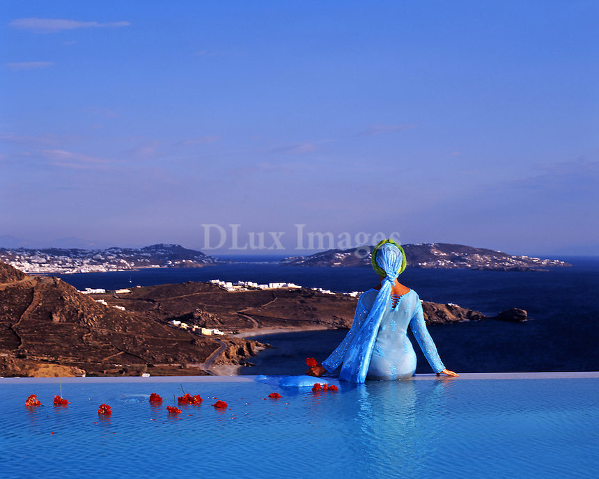 Della Rounick, eccentric artist, writer, socialite and citizen of the world chose to make her personal retreat on the Greek island of Mykonos.