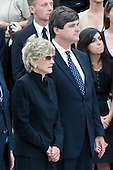 "Washington, DC - August 29, 2009 -- Jean Kennedy Smith, the last surviving sibling of former U.S. Senator Edward M. ""Ted"" Kennedy (Democrat of Massachusetts), left, and her son, William Kennedy Smith, right, at the ceremony at the U.S. Capitol on Saturday, August 29, 2009..Credit: Ron Sachs / CNP.(RESTRICTION: NO New York or New Jersey Newspapers or newspapers within a 75 mile radius of New York City)"
