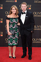 Harriet Scott &amp; Ronan Keating arriving for the Olivier Awards 2018 at the Royal Albert Hall, London, UK. <br /> 08 April  2018<br /> Picture: Steve Vas/Featureflash/SilverHub 0208 004 5359 sales@silverhubmedia.com