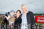 l-r Mossey McNamara, Paula Galvin and Tom McNamara from Listowel enjoying Ladies Day at the Listowel Harvest Racing Festival on Friday