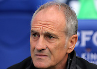 Pictured: Francesco Guidolin, Manager of Swansea City  Saturday 27 August 2016<br />Re: Swansea City FC v Leicester City FC Premier League game at the King Power Stadium, Leicester, England, UK