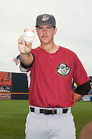 Altoona Curve pitcher Nick Kingham (34) during game against the Trenton Thunder at ARM & HAMMER Park on July 24, 2013 in Trenton, NJ.  Altoona defeated Trenton 4-2.  Tomasso DeRosa/Four Seam Images