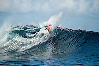 Namotu Island Resort, Nadi, Fiji (Tuesday, May 31 2016): Courtney Conlogue (USA) - The  2016 Fiji Women's Pro wrapped up today with Johanne Defay (FRA) defeating Carissa Moore (HAW) in the 35 minute final. Defay dominated the final heat and had Moore needing a combination score by the end. The swell was in the 4'-6' range all day with clean conditions early before  strong Trade winds came in the  making the waves a bit choppy. Photo: joliphotos.com