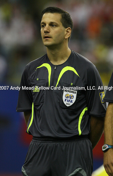 30 June 2007: Fourth Official Steven Depiero (CAN). At Le Stade Olympique in Montreal, Quebec, Canada. Poland's Under-20 Men's National Team defeated Brazil's Under-20 Men's National Team 1-0 in a Group D opening round match during the FIFA U-20 World Cup Canada 2007 tournament.