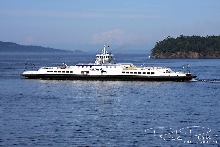 The BC Ferries Skeena Queen transits through Swartz Bay on its way to Salt Spring Island in British Columbia.