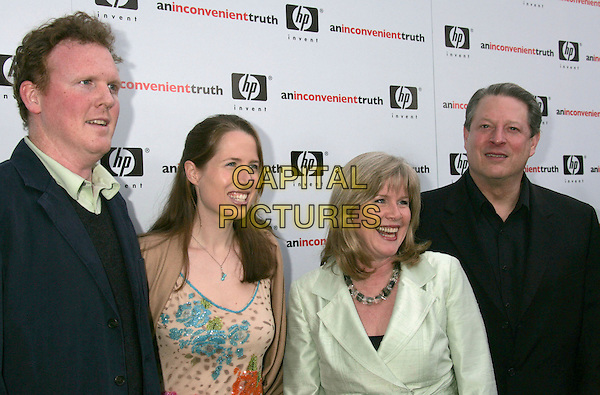 "PAUL CUSACK, KRISTIN GORE, TIPPER GORE & AL GORE.""An Inconvenient Truth"" Los Angeles Premiere held at the Director's Guild of America, Los Angeles, California, USA..May 16th, 2006.Photo: Russ Elliot/AdMedia/Capital Pictures.Ref: RE/ADM.headshot portrait married husband wife.www.capitalpictures.com.sales@capitalpictures.com.© Capital Pictures."