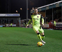 Exeter City's Ryan Harley attacks down the wing during the Sky Bet League 2 match between Crawley Town and Exeter City at Broadfield Stadium, Crawley, England on 28 February 2017. Photo by Carlton Myrie / PRiME Media Images.