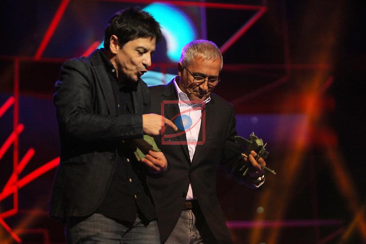 63 Premios Ondas.<br /> Gala de Entrega de los premios.<br /> Xavier Sarda &amp; Juan Carlos Ortega.