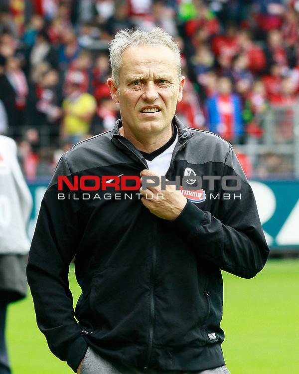 Christian STREICH, Trainer SCF, Portrait, Portr&auml;t, Einzelbild, hoch, Fu&szlig;ball 1.BL Saison 2014/2015<br /> <br /> Foto &copy; nordphoto /  H.Konkel