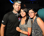 From left: Miguel Medina Jessica Porras and Victoria Garcia at the Steel Lounge Underground at the Contemporary Arts Museum  Friday July 30,2010.(Dave Rossman/For the Chronicle)