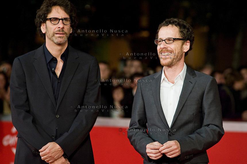 "Roma, 22 Ottobre, 2009. Joel e Ethan Coen al red carpet per il film ""A serious man"""