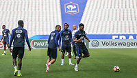 French players in action during the France National Team Training session ahead of the match with England tomorrow evening at Stade de France, Paris, France on 12 June 2017. Photo by David Horn / PRiME Media Images.