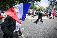 Meeting de Nicolas Sarkozy,  candidat de l'UMP à la présidentielle 2012, sur le parvis du Trocadéro. Mardi 1er mai 2012 - 2012©Jean-Claude Coutausse / french-politics pour Le Monde