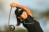 January 14, 2005; Honolulu, HI, USA;  15 year old amateur Michelle Wie tees off from the 16th hole during the 2nd round of the PGA Sony Open golf tournament held at Waialae Country Club.    Wie shot a 4 over par 74 for the day and missed the cut by 7 strokes with a 9 over par 149.<br />