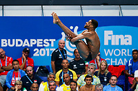 Picture by Rogan Thomson/SWpix.com - 14/07/2017 - Diving - Fina World Championships 2017 -  Duna Arena, Budapest, Hungary - Yona Knight Wisdom of Jamaica in action in the mens 1m Springboard Preliminary.