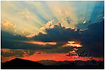 Beaming sunset over the Smoky Mountains