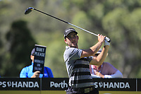 Bradley Neil (SCO) in action on the 9th during Round 2 of the ISPS Handa World Super 6 Perth at Lake Karrinyup Country Club on the Friday 9th February 2018.<br /> Picture:  Thos Caffrey / www.golffile.ie<br /> <br /> All photo usage must carry mandatory copyright credit (&copy; Golffile | Thos Caffrey)