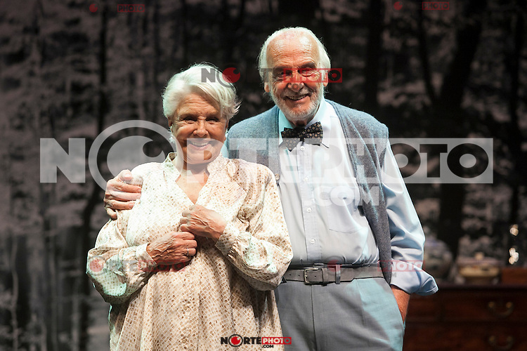 Spanish actress Lola Herrera and Argentinian actor Hector Alterio perform during `El lago dorado´ theater play in Madrid, Spain. August 17, 2015. (ALTERPHOTOS/Victor Blanco)