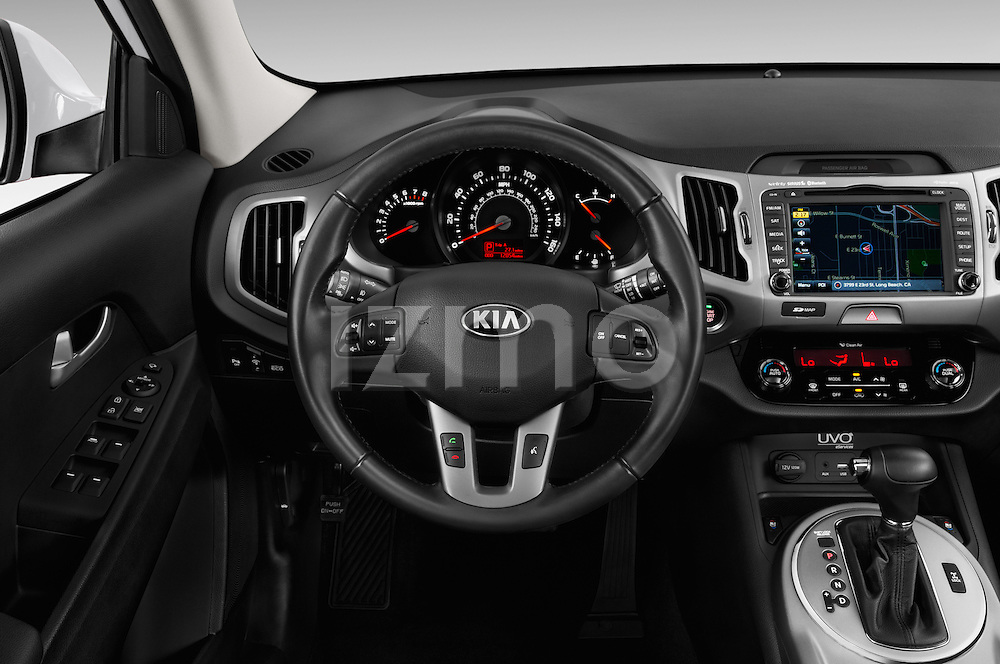 Car pictures of steering wheel view of a 2016 KIA Sportage SX 5 Door Suv Steering Wheel