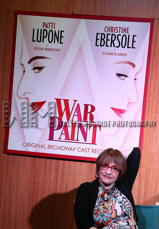 """Patti Lupone discusses her Performances In """"War Paint"""" On Broadway with Composer Scott Frankel at Barnes & Noble 86th Street on July 14, 2017 New York City."""