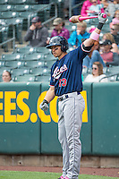 Cody Ransom (13) of the Reno Aces during the game against the Salt Lake Bees in Pacific Coast League action at Smith's Ballpark on May 10, 2015 in Salt Lake City, Utah.  Salt Lake defeated Reno 9-2 in Game One of the double-header. (Stephen Smith/Four Seam Images)