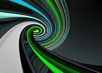Abstract green spiral pattern