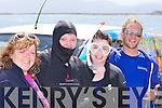 Elizabeth Clearnon, Bridget Elliott, Niamh McGee and Joshua Richardson at the Maherees Regatta on Sunday