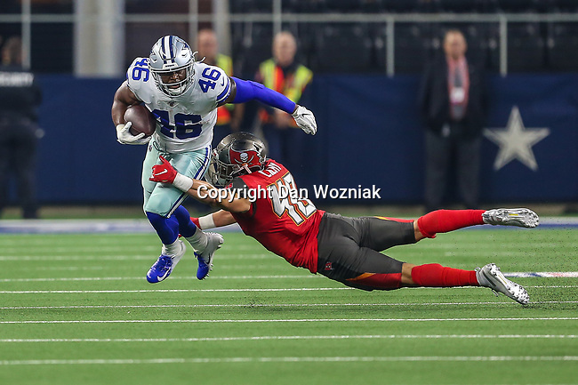 Dallas Cowboys running back Alfred Morris (46) in action during the pre-season game between the Tampa Bay Buccaneers and the Dallas Cowboys at the AT & T Stadium in Arlington, Texas.
