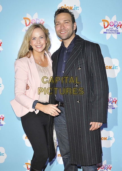 LONDON, ENGLAND - NOVEMBER 02: Debbie Flett &amp; Stefan Booth attend the &quot;Dora &amp; Friends: Into The City&quot; UK TV premiere, The Empire cinema, Leicester Square, on Sunday November 02, 2014 in London, England, UK. <br /> CAP/CAN<br /> &copy;Can Nguyen/Capital Pictures