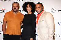 Lawrence Fishburne, Tracee Ellis Ross, Anthony Anderson<br /> Paley Center For Media's PaleyFest 2014 Fall TV Previews - ABC, Paley Center For Media, Beverly Hills, CA 09-11-14<br /> David Edwards/DailyCeleb.com 818-249-4998
