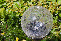 Glass garden ornament, globe gazing ball