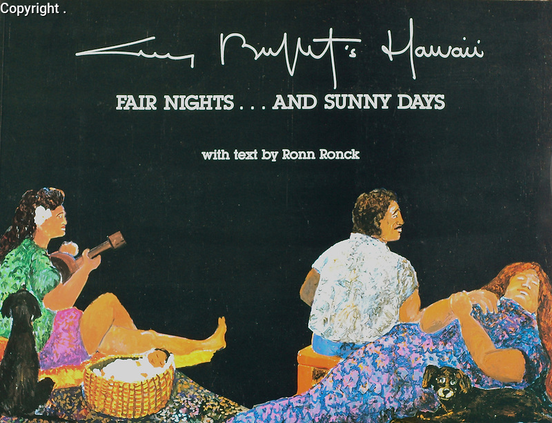 """""""Fair Nights... and Sunny Days""""<br /> Published in 1987 by Cameron & Company<br /> Text by Ronn Ronck<br /> A vivid and colorful book of Guy's early days in Hawaii, this book also includes hilarious sketches of the many characters he came across in Paradise!<br /> $35/$50 Signed"""