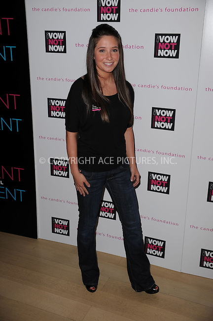 WWW.ACEPIXS.COM . . . . . ....May 6 2009, New York City....Bristol Palin at the Candie's Foundation town hall meeting on teen pregnancy prevention at TheTimes Center on May 6, 2009 in New York City.......Please byline: KRISTIN CALLAHAN - ACEPIXS.COM.. . . . . . ..Ace Pictures, Inc:  ..tel: (212) 243 8787 or (646) 769 0430..e-mail: info@acepixs.com..web: http://www.acepixs.com