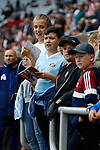 Sunderland fans waiting for autographs as the players warm up. Sunderland 2 Portsmouth 1, 17/08/2019. Stadium of Light, League One. Photo by Paul Thompson.