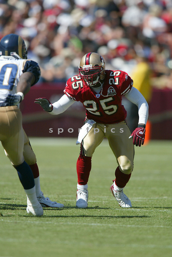 CHAD WILLIAMS, of the San Francisco 49er's , during their game against the St. Louis Rams on September 17, 2006 in San Francisco, CA...49er's win 20-13..Rob Holt / SportPics.