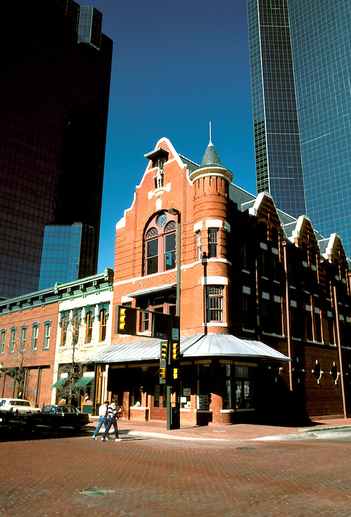 Texas: Fort Worth, Sundance Square, Knights of Pythias Hall, photo: txfort105  .Photo copyright Lee Foster, www.fostertravel.com, 510/549-2202, lee@fostertravel.com